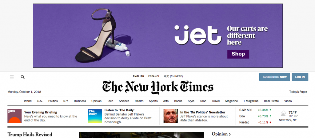 Display advertising - Jet.com