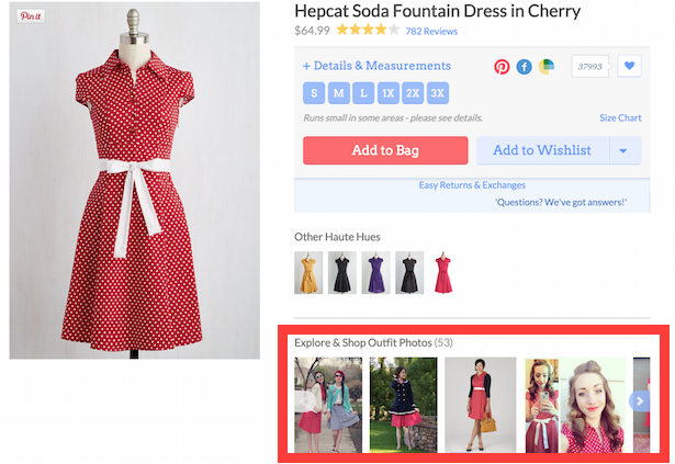 Modcloth user images