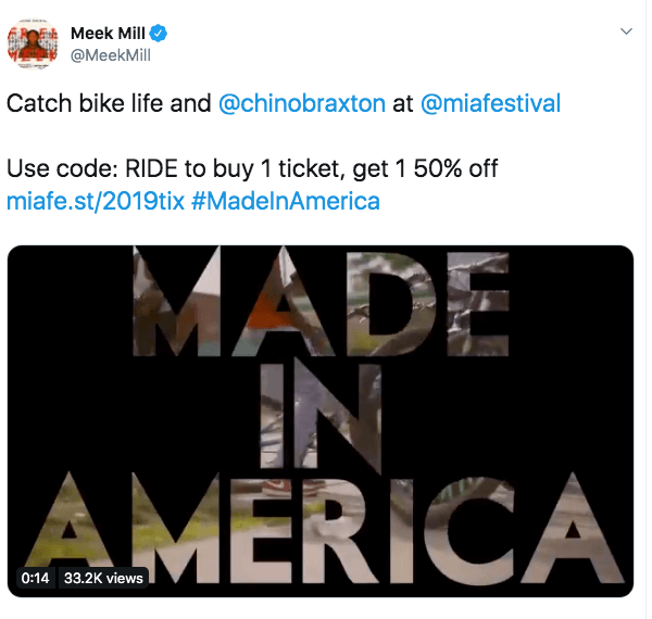 Meek Mill's example of using influencer marketing for events
