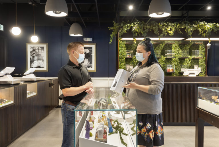 Columbia Care cannabis retail store assistance 'Cannabist'