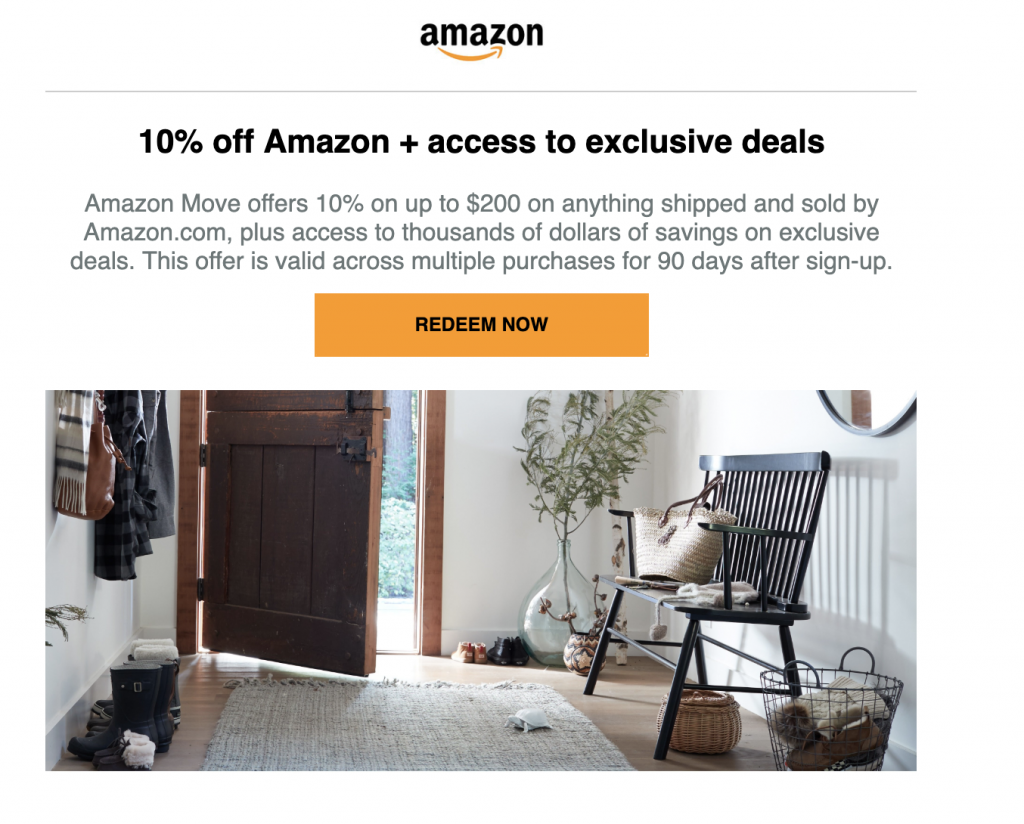 Moving discount emails from Amazon